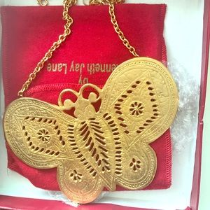 Kenneth Jay Lane Butterfly necklace.